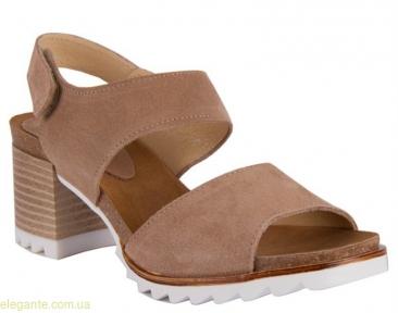 Босоножки на каблуке CHAMBY светло-коричневые