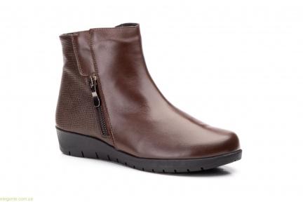 Жіночі черевики на танкетці JAM2 коричневі