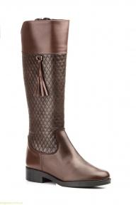 Жіночі чоботи JAM1 з пензликами коричневі