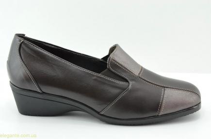 Жіночі туфлі на танкетці DIGO DIGO коричневі