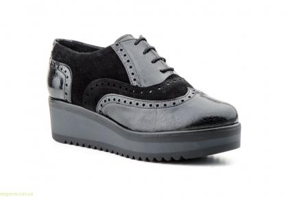 Женские кожаные туфли JAM чёрные
