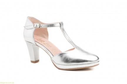 Жіночі туфлі на каблуку ANNORA срібні