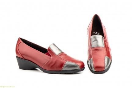 Женские туфли на танкетке JAM2 красные