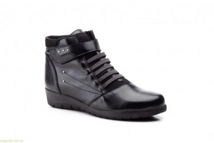 Женские ботинки на липучке JAM чёрные