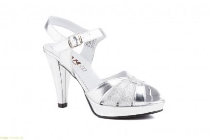 Жіночі босоніжки святкові JAM срібні