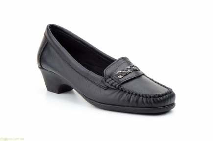 Жіночі лофери на каблуку ANTONELLA чорні
