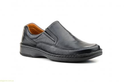 Мужские туфли SCN CRISPINOS еластические чёрные