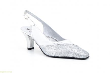 Женские туфли JAM праздничные серебряные