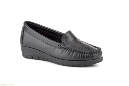 Женские туфли на танкетке ANTONELLA чёрные