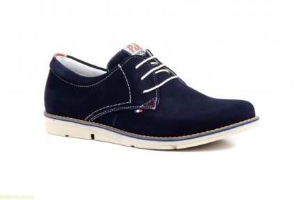 Мужские туфли замшевые PEPE AGULLO синие