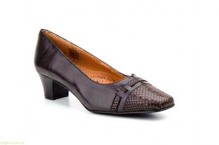 Женские туфли на каблуке JAM1 коричневые