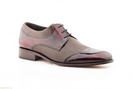 Мужские туфли дерби Nikkoe бордовые