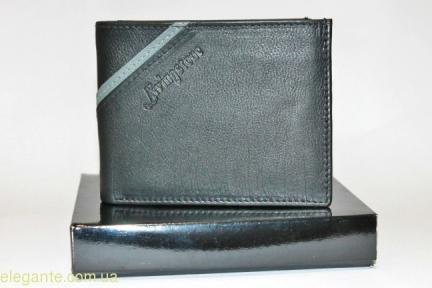 Чоловічий гаманець Livingston сіра полоска