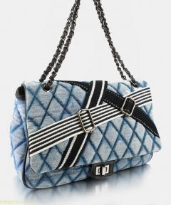 Женская сумочка на плечо JEANS светло-синяя