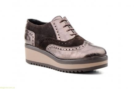 Женские кожаные туфли JAM коричневые