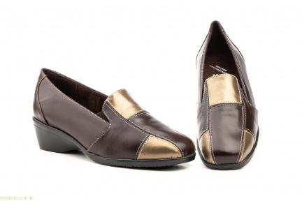 Жіночі туфлі на танкетці JAM2 коричневі