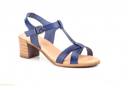 Женские босоножки на каблуке JAM1 синие