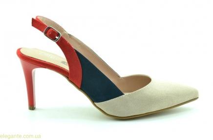 Женские открытые туфли на каблуке DIGO DIGO телесно-красные