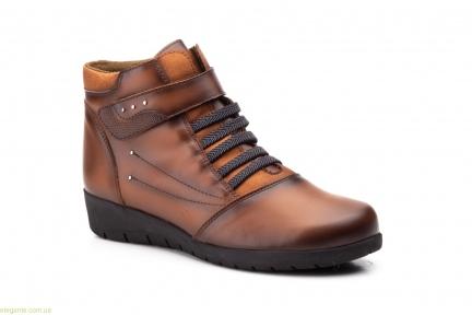 Жіночі черевики на липучці JAM коричневі