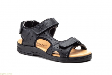 Мужские сандалии на липучке Morxiva чёрные