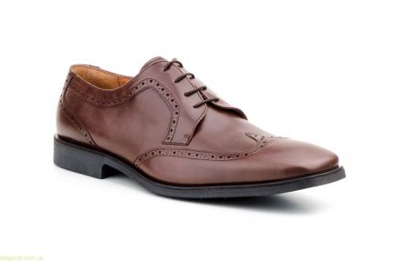Чоловічі туфлі дербі CARLO GARELLI xxl коричневі