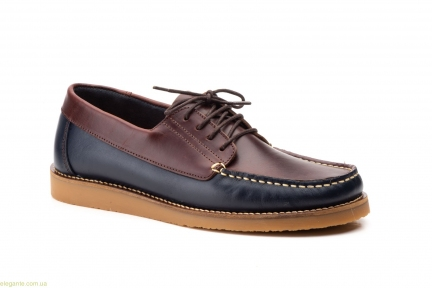Мужские мокасины на шнурках Keelan сине-коричневые