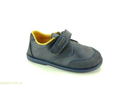 Детские школьные туфли XIQUETS синие для мальчика
