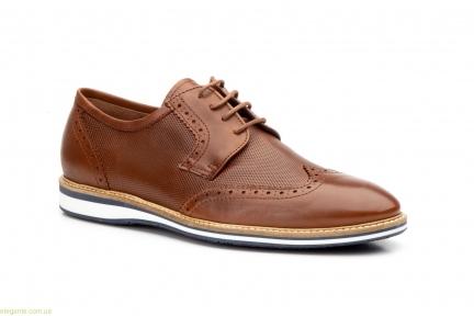 Чоловічі туфлі дербі KEELAN Ingles1 коричневі