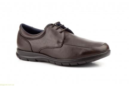 Чоловічі туфлі на шнурівках KEELAN1 коричневі