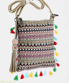 Женская сумочка на плечо ETNICA молодежная телесная