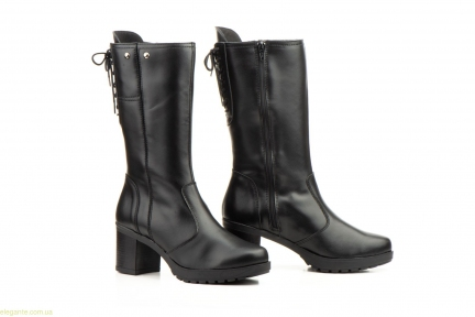 Женские полусапоги с шнурками JAM чёрные