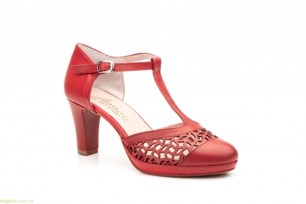 Жіночі туфлі на каблуку ANNORA1 червоні