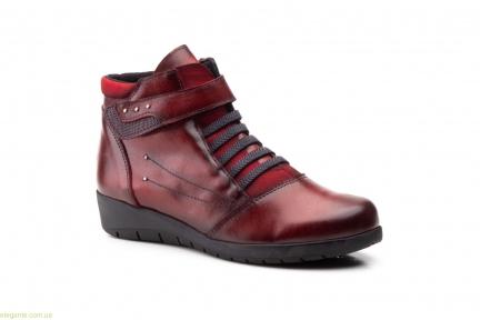 Женские ботинки на липучке JAM бордовые
