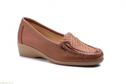 Жіночі туфлі Antonella Лайкра коричневі