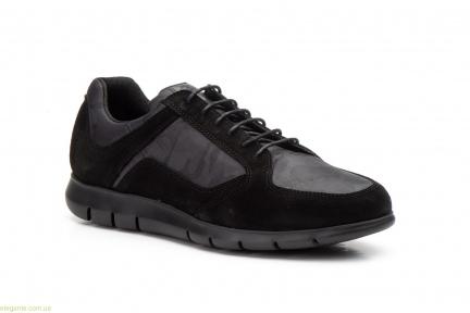 Мужские кросовки замшевые Diluis Militar чёрные