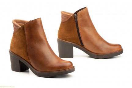 Женские ботинки на каблуке JAM цвет нат. кожи