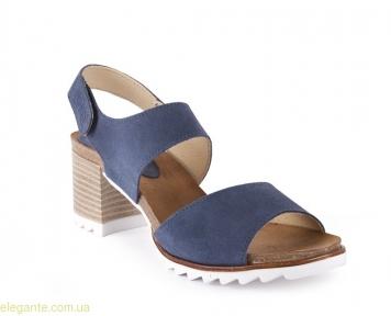 Босоножки на каблуке CHAMBY цвет джынса