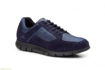 Мужские кросовки замшевые Diluis Militar синие