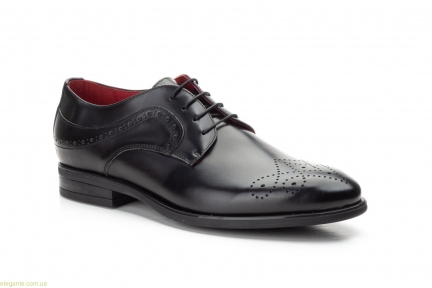Чоловічі туфлі дербі KEELAN чорні з узором