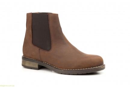 Мужские ботинки еластические SCN коричневые
