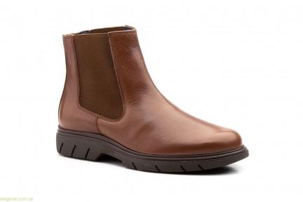 Чоловічі черевики еластичні Keelan коричневі