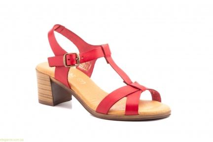 Жіночі босоніжки на каблуку JAM1 червоні