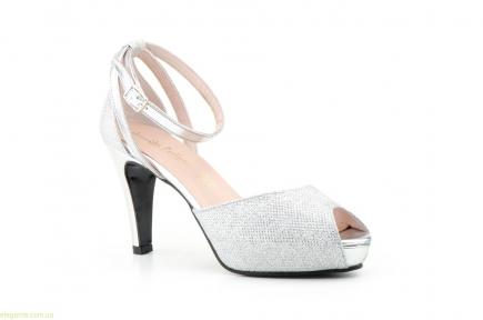 Женские туфли праздничные JENNIFER PALLARES серебряные
