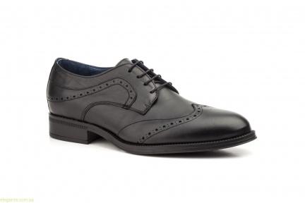 Чоловічі туфлі дербі SCN1 чорні