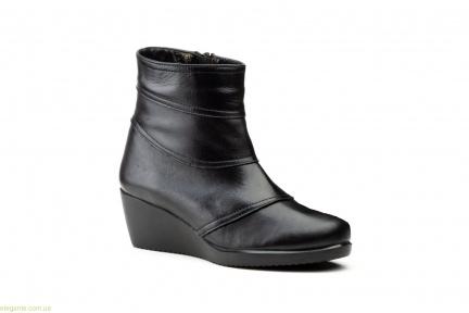 Жіночі черевики на танкетці JAM1чорні