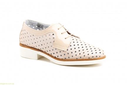Жіночі туфлі з перфорацією JAM тілесні