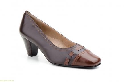 Жіночі туфлі на каблуку JAM2 коричневі