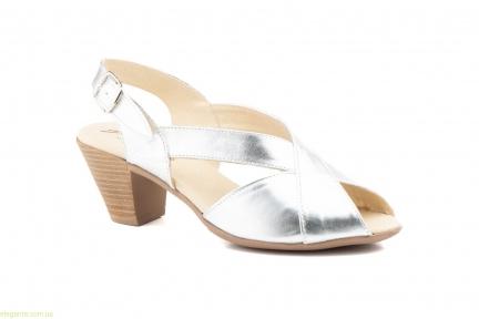Жіночі босоніжки на каблуку JAM Cutillas срібні