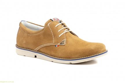 Мужские туфли замшевые PEPE AGULLO коричневые