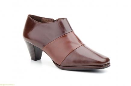 Женские туфли на молнии JAM коричневые